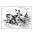 falconry as practiced a noblewoman the vector image vector image