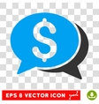 Financial Chat Eps Icon vector image vector image