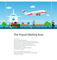flyer of waiting room with passengers vector image vector image