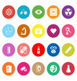 General hospital flat icons on white background vector image