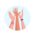 giving high five to each other vector image