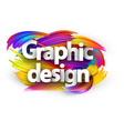 graphic design paper poster with colorful brush vector image vector image