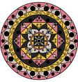 Gray-pink mandala vector image vector image