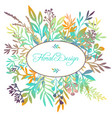 hand drawn color floral background vector image vector image