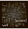hand drawn set business vector image vector image