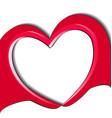 hands doing a love heart logo vector image vector image