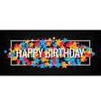 Happy Birthday Banner Design Background vector image vector image