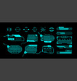 hud banners futuristic interface elements with vector image