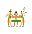 indian people india flag vector image