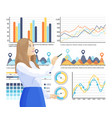 infographics and info structure woman thinking vector image vector image