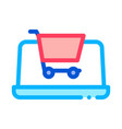 internet shopping icon outline vector image