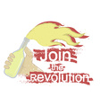 Join the revolution logo vector image vector image