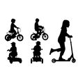 kids on bikes vector image