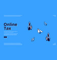 landing page online tax mobile payment vector image vector image