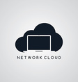 laptop notebook cloud theme vector image