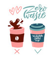 less plastic poster concept disposable cup vs vector image vector image