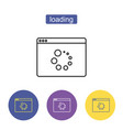 loading icon refresh icon vector image