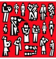 man and woman love married - icons vector image vector image