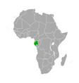 map gabon in africa vector image vector image