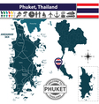 Map of Phuket vector image vector image