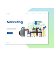 marketing website landing page design vector image vector image