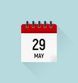 may 29 memorial day calendar icon data days of vector image