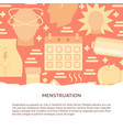 menstruation symptoms concept banner in flat style vector image