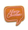 Merry christmas speech bubble vector | Price: 1 Credit (USD $1)