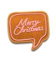 Merry Christmas speech bubble vector image vector image