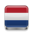 Metal icon of Netherlands vector image vector image