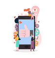 mobile technologies concept for web banner vector image vector image