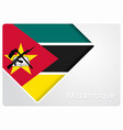 mozambique flag design background vector image vector image