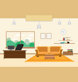 office design interior on table chair bookcase vector image