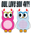 Owl Love You vector image vector image
