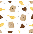 pattern with poop vector image