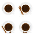 porcelain cup with coffee 02 vector image vector image