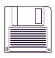 Retro diskette technology design vector image