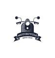 retro motorcycle logo template motorcycle logo vector image