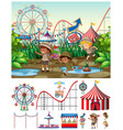 scene background design with kids at carnival vector image vector image