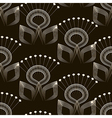 Seamless pattern monochrome art deco ornament vector image vector image