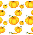 seamless pattern tile cartoon with pumpkins vector image
