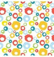 Seamless pattern with doodle colorful circles vector image vector image