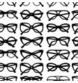 seamless pattern with glasses and sunglasses vector image vector image