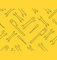 seamless pattern with spanner wrench adjustable vector image