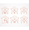 set family and house icons family love vector image