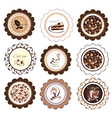 set of coffee design elements vector image