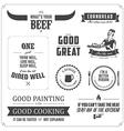 set restaurant menu typographic design elements vector image vector image