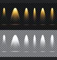 set spotlight scene illumination collection vector image