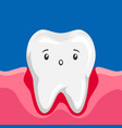 sick tooth with inflamed gums vector image vector image