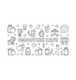 smoothie cafe horizontal banner in thin vector image